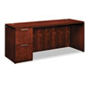 Arrive Single Pedestal Credenza, Left, 72w x 24d x 29-1/2h, Henna Cherry
