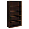 HON® Arrive Wood Veneer Five-Shelf Bookcase, 36w x 15-1/8d x 71-1/2h, Shaker Cherry HONVW612XFF