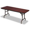 <strong>Iceberg</strong><br />Premium Wood Laminate Folding Table, Rectangular, 72w x 30d x 29h, Mahogany