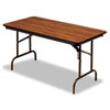 Premium Wood Laminate Folding Table, Rectangular, 72w x 30d x 29h, Oak