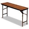 Iceberg Premium Wood Laminate Folding Table, Rectangular, 60w x 18d x 29h, Oak ICE55275