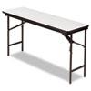 Iceberg Premium Wood Laminate Folding Table, Rectangular, 60w x 18d x 29h, Gray/Charcoal ICE55277