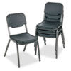 Iceberg Rough 'N Ready Stack Chair - Polyethylene Seat - Polyethylene Back - Steel Black Frame - Pol ICE64011
