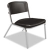 Iceberg Big and Tall Stack Chair - Polyethylene Black Seat - Steel Frame - 26 IhICE64021