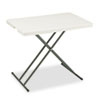 <strong>Iceberg</strong><br />IndestrucTable Classic Personal Folding Table, 30 x 20 x 25 to 28 High, Platinum