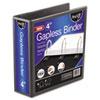"""find It™ Gapless Loop Ring View Binder, 11 x 8-1/2, 4"""" Capacity, Black IDEFT07074"""