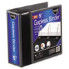"Gapless Loop Ring View Binder, 11 x 8 1/2, 5"" Capacity, Black"