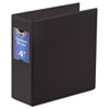 "Gapless Loop Ring Binder, 11 x 8 1/2, 4"" Capacity, Black"