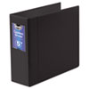 "Gapless Loop Ring Binder, 11 x 8 1/2, 5"" Capacity, Black"