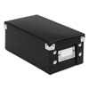 Collapsible Index Card File Box, Holds 1,100 3 x 5 Cards, Black