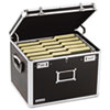 Locking File Chest Storage Box, Letter/Legal, 17-1/2 x 14 x 12-1/2, Black