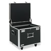 "Locking Mobile File Chest, Letter/Legal Files, 17.5"" x 15.5"" x 14.5"", Black/Chrome"