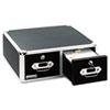 Vaultz® Vaultz Locking 5 x 3 Two-Drawer Index Card Box, 3000-Card Capacity, Black IDEVZ01393