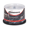 Innovera® DVD-R Discs, 4.7GB, 16x, Spindle, Silver, 50/Pack IVR46850