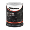 Innovera® DVD+R Discs, 4.7GB, 16x, Spindle, Silver, 100/Pack IVR46891