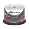 Innovera® CD-R Discs, 700MB/80min, 52x, Spindle, Silver, 50/Pack IVR77950
