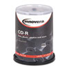 <strong>Innovera®</strong><br />CD-R Discs, 700MB/80min, 52x, Spindle, Silver, 100/Pack