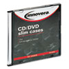 CD/DVD Polystyrene Thin Line Storage Case, Clear, 50/Pack