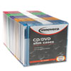 Innovera® CD/DVD Polystyrene Thin Line Storage Case, Assorted Colors, 50/Pack IVR85850