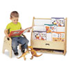 <strong>Jonti-Craft</strong><br />Toddler Pick-a-Book Stand, 24w x 9d x 25h, Birch