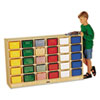 <strong>Jonti-Craft</strong><br />Tray Mobile Storage, 57w x 15d x 35.5h, Birch/Assorted