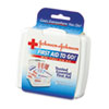 Johnson & Johnson® Red Cross® Mini First Aid To Go Kit, 12-Pieces, Plastic Case - 8295