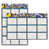 Recycled Earthscapes Sea Life Scenes Reversible Wall Calendar, 24 x 37, 2019