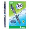 B2P Bottle-2-Pen Recycled Retractable Gel Pen, 0.7mm, Black Ink, Translucent Blue Barrel