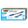 <strong>BIC®</strong><br />Velocity Original Mechanical Pencil, 0.7 mm, HB (#2.5), Black Lead, Blue Barrel, Dozen