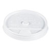 <strong>Dart®</strong><br />Plastic Lids, for 16oz Hot/Cold Foam Cups, Sip-Thru Lid, White, 1000/Carton