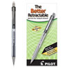 Better Retractable Ballpoint Pen, Medium 1mm, Black Ink, Smoke Barrel, Dozen