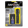 <strong>Rayovac®</strong><br />LED Aluminum Flashlight, 3 AAA Batteries (Included), Black
