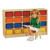 <strong>Jonti-Craft</strong><br />Tray Mobile Cubbie, 48w x 15d x 29.5h, Birch/Assorted