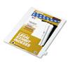 """Kleer-Fax® 80000 Series Legal Index Dividers, Side Tab, Printed """"24"""", 25/Pack KLF82224"""