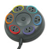 Kensington® SmartSockets Color-Coded Surge Protector, 6 Outlets, 16 ft Cord, 1500 Joules KMW62634