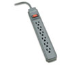 Kensington® Guardian Surge Protector, 6 Outlets, 15 ft Cord, 540 Joules, Gray KMW38215