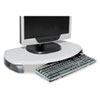 CRT/LCD Stand with Keyboard Storage, 23 x 13 1/4 x 3, Gray