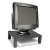 "Single-Level Monitor Stand, 17"" x 13.25"" x 3"" to 6.5"", Black, Supports 50 lbs"
