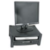 Kantek Two Level Stand, Removable Drawer, 17 x 13 1/4 x 3-1/2 to 7, Black KTKMS480