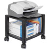 Mobile Printer Stand, Two-Shelf, 17w x 13.25d x 14.13h, Black