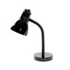 "Advanced Style Incandescent Gooseneck Desk Lamp, 16"" High, Black"