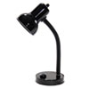 "Incandescent Gooseneck Desk Lamp, 16"" High, Black"