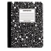 <strong>Universal®</strong><br />Composition Book, 4 sq/in Quadrille Rule, Black Marble, 9.75 x 7.5, 100 Sheets