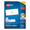 EASY PEEL WHITE ADDRESS LABELS W/ SURE FEED TECHNOLOGY, INKJET PRINTERS, 1 X 4, WHITE, 20/SHEET, 100 SHEETS/BOX