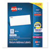 EASY PEEL WHITE ADDRESS LABELS W/ SURE FEED TECHNOLOGY, LASER PRINTERS, 0.5 X 1.75, WHITE, 80/SHEET, 100 SHEETS/BOX