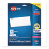 <strong>Avery®</strong><br />Easy Peel White Address Labels w/ Sure Feed Technology, Laser Printers, 0.5 x 1.75, White, 80/Sheet, 25 Sheets/Pack