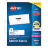 EASY PEEL WHITE ADDRESS LABELS W/ SURE FEED TECHNOLOGY, LASER PRINTERS, 1.33 X 4, WHITE, 14/SHEET, 250 SHEETS/BOX