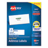Easy Peel White Address Labels w/ Sure Feed Technology, Inkjet Printers, 1.33 x 4, White, 14/Sheet, 100 Sheets/Box