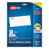 EASY PEEL WHITE ADDRESS LABELS W/ SURE FEED TECHNOLOGY, INKJET PRINTERS, 0.66 X 1.75, WHITE, 60/SHEET, 25 SHEETS/PACK