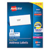 Easy Peel White Address Labels w/ Sure Feed Technology, Laser Printers, 1 x 2.63, White, 30/Sheet, 250 Sheets/Pack